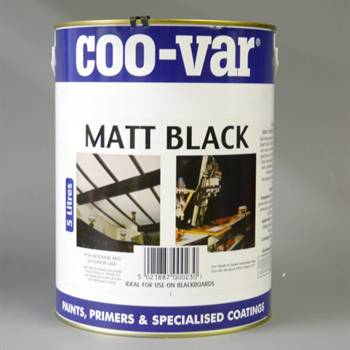 Matt Black Paint 2.5 litre