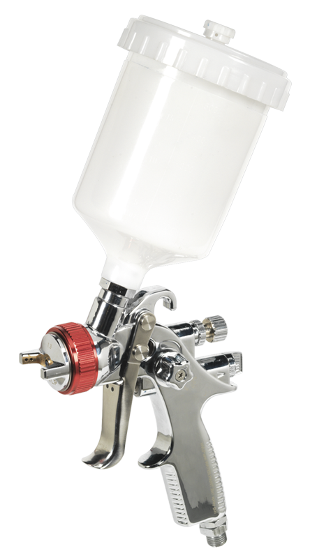 Sealey HVLP Gravity Feed Spray Gun 1.3mm Set-Up