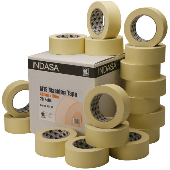 Low Bake masking tape Indasa or T-Euro 3/4'' box of 48