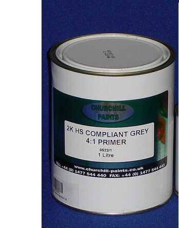 CHURCHILLS 2k high build Primer grey and beige (4:1) 4litre